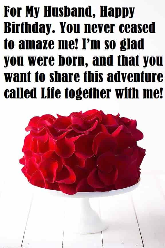 Romantic Birthday Wishes For Husband Birthday Message For Husband